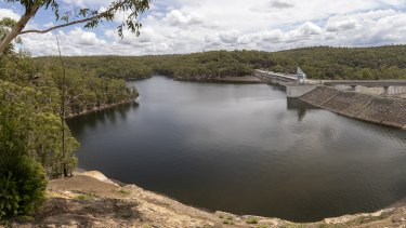 Warragamba Dam fell to less than 43 per cent full during the depths of the 2020 drought.