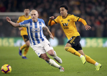 Mooy in action for Huddersfield.