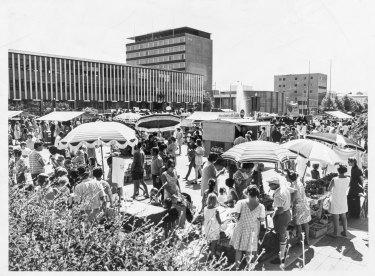 Typical Canberra Day celebrations in the City's Civic Square, July 19, 1972. Part of the Fairfax photographic archive recently acquired by Canberra Museum and Gallery