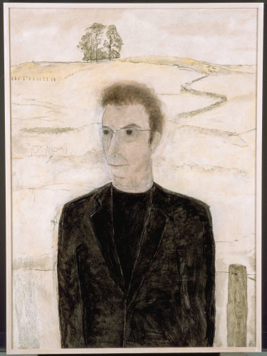 Peter Carey in Kelly Country, 2000, by Bruce Armstrong. Collection: National Portrait Gallery. Purchased with funds from the Basil Bressler Bequest 2001.