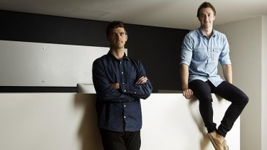 Ben Richardson, left, and Dave Greiner of Campaign Monitor have attracted close to $270 million in US investment, a figure believed to be the largest ever for an Australian technology start-up.