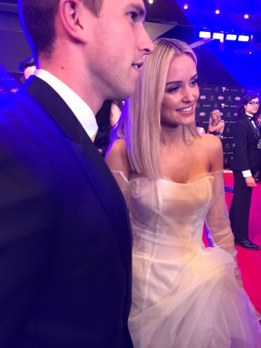 Jessie and Marc Murphy on the red carpet.