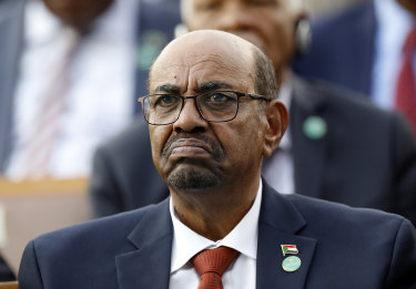 In this July 9, 2018, Omar al-Bashir attends a ceremony for Turkey's President.