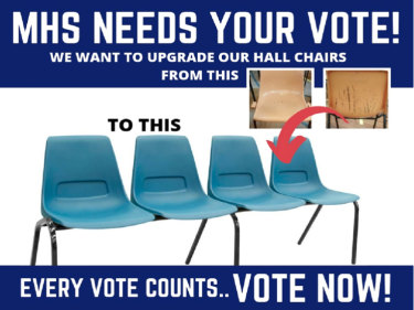 Mitchell High School had to rely on a community grant competition to replace the 20-year-old plastic chairs in its hall.