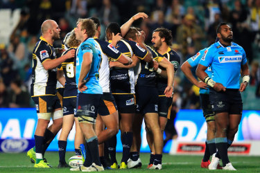 The Brumbies thrashed the NSW Waratahs in the last round of the season.