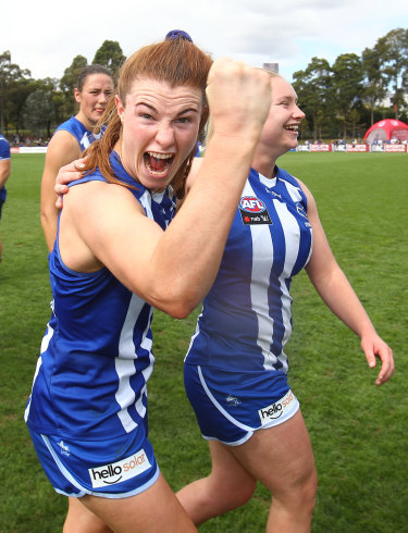North Melbourne's Aileen Gilroy.