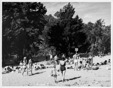 Swimmers at Casuarina Sands in January 1965. Part of the Fairfax photographic archive recently acquired by Canberra Museum and Gallery.