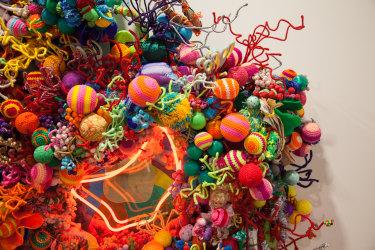 Hiromi Tango's colourful Amygdala (Fireworks), detail.