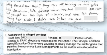 "A student's letter regarding allegations against her ""favourite"" teacher which were investigated by EPAC."