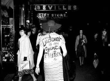 """Von Luckner is an agent of Hitler"": communists protest the arrival of Felix Von Luckner in Sydney on ay 20, 1938."