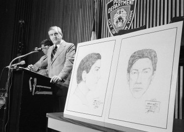 In this 1977 file photo, John Keenan, chief of detectives, speaks at a press conference.