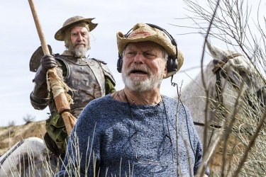 Terry Gilliam, front, with Jonathan Pryce on the set of <i>The Man Who Killed Don Quixote</i>.