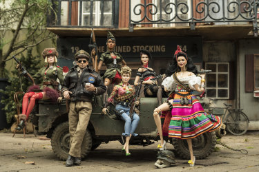 The action dolls, including Steve Carell lookalike, that help to recreate Mark Hogancamp's world in Welcome to Marwen.