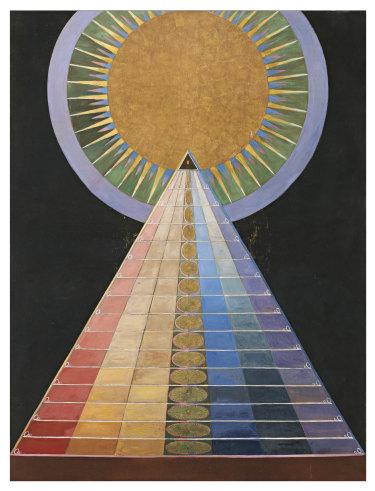 One of af Klint's Altarpiece paintings.