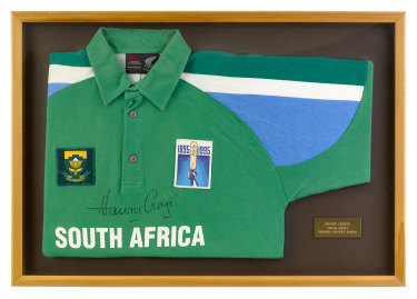 World Cup memories: The Hansie Cronje jersey which will go up for auction.