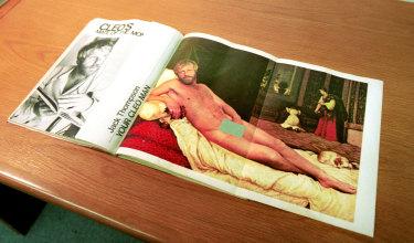 The Jack Thompson centrefold in Cleo magazine.