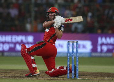 Swashbuckler: AB De Villiers will go down as one of the great showmen of international cricket.