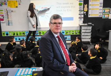 Bacchus Marsh Grammar principal Andrew Neal says federal funding cuts have forced the school to reduce its student intake for 2022.