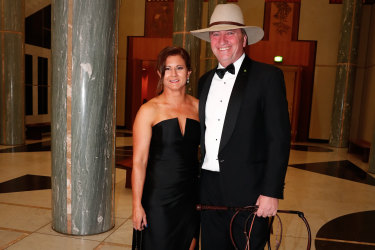 Barnaby Joyce with his former wife Natalie in June 2017 at Mid Winter Ball in Canberra. The pair have now separated.