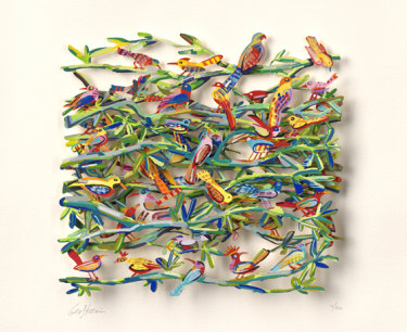 Artwork belonging to Melissa Caddick that are missing include David Gerstein's Exotic Birds.