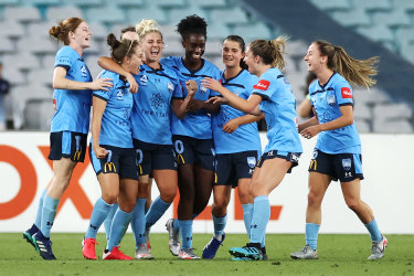 Premiers: A young Sydney FC side finished the regular season on top of the W-League.