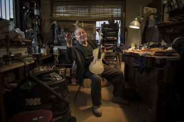 Harry Vatiliotis, who is regarded as one of Australia's finest violin makers.