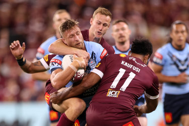 Search and destroy: Tariq Sims was all class on the left edge.