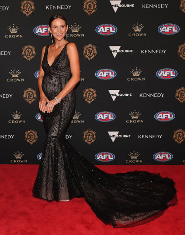 Alex Pendlebury, wife of Scott Pendlebury of the Magpies.