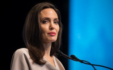 Actress Angelina Jolie, special envoy to the United Nations High Commissioner for Refugees.