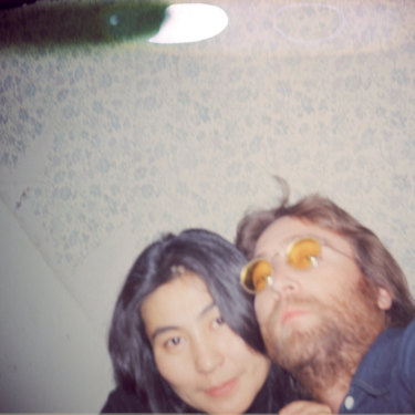 Instamatic  photograph taken by John on the set of Yoko's Film No. 12.