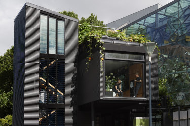 The garden around the Federation Square house by Joost Bakker is dynamic and thriving.