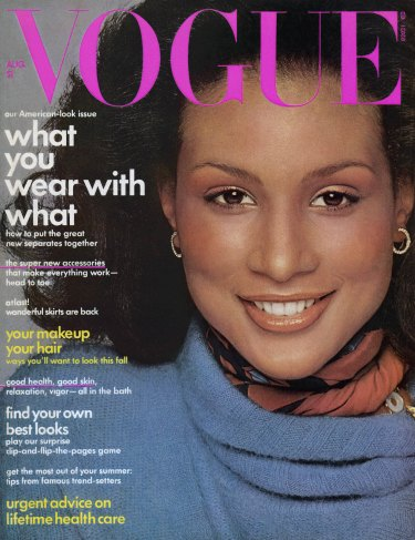 Beverly Johnson on the cover of Vogue in 1974.