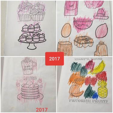 """Minimal progress"": Examples of Jake's secondary schoolwork at Southern Autistic in  2017."