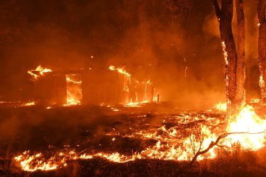 Buildings and property were lost as bushfires raced through Failford earlier this month.