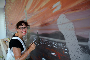 Artist Sharron Tancreduses online platforms to find well-paid gigs,