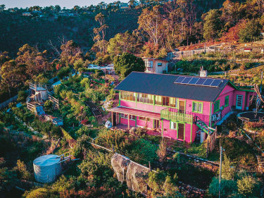 The future looks bright at Hannah Moloney's Hobart home.