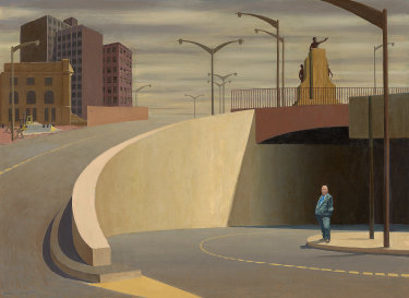 Jeffrey Smart, Cahill Expressway(1962), National Gallery of Victoria, Melbourne.