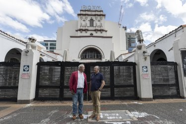 Filmmaker Bruce Beresford and Roxy Theatre Action Group's Robert Fox say the Roxy could serve as Parramatta's new live theatre and music venue.