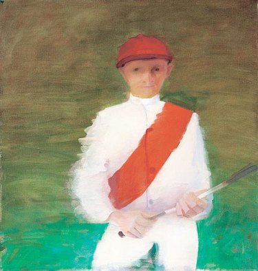 Le portrait du célèbre jockey Norman « Whopper » Stephens, réalisé par Sam Fullbrook en 1974, par Archibald.