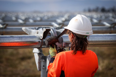 Construction jobs are shrinking in the large-scale renewables sector.