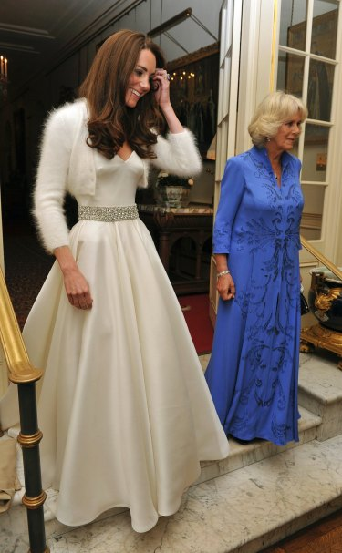 Kate, the Duchess of Cambridge, changed into a different dress for her wedding reception to Prince William in 2011.