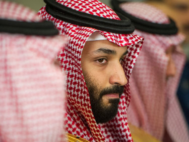Dark side: Saudi Crown Prince Mohammed bin Salman.