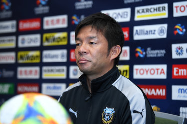 Easy pickings: Kawasaki Frontale coach Toru Oniki speaks to media in Sydney on Monday.