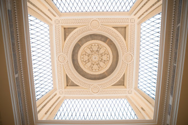 The ceiling in the Queen's Hall.