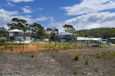 Slicing up paradise: Housing development near Manyana on the NSW South Coast.
