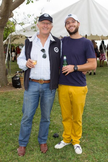 John Marshall (left) and son Adam in 2012.