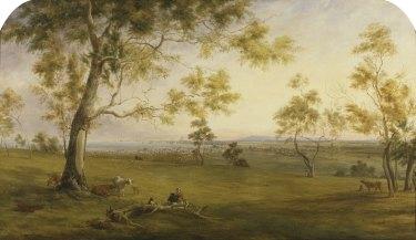 Thomas Clark's<i>Emerald Hill and Sandridge from the Government Domain </i> (1857).