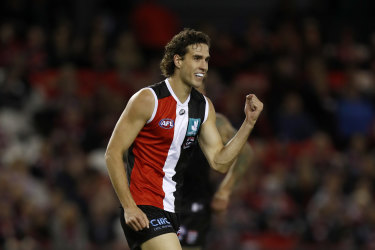 St Kilda's current number 12, Max King, idolised Nick Riewoldt as a youngster.
