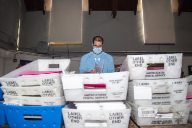 The counting of ballots is a slow process.