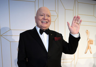 Bert Newton at the 2018 Logie Awards.